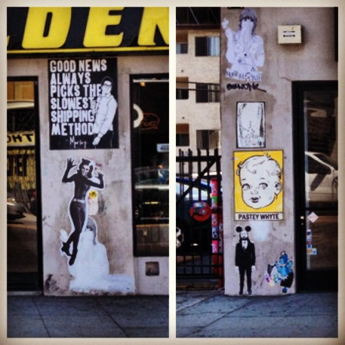 Golden Apple Comics. Melrose and LaBrea #pasteywhyte #morley #streetart (Taken with Instagram)