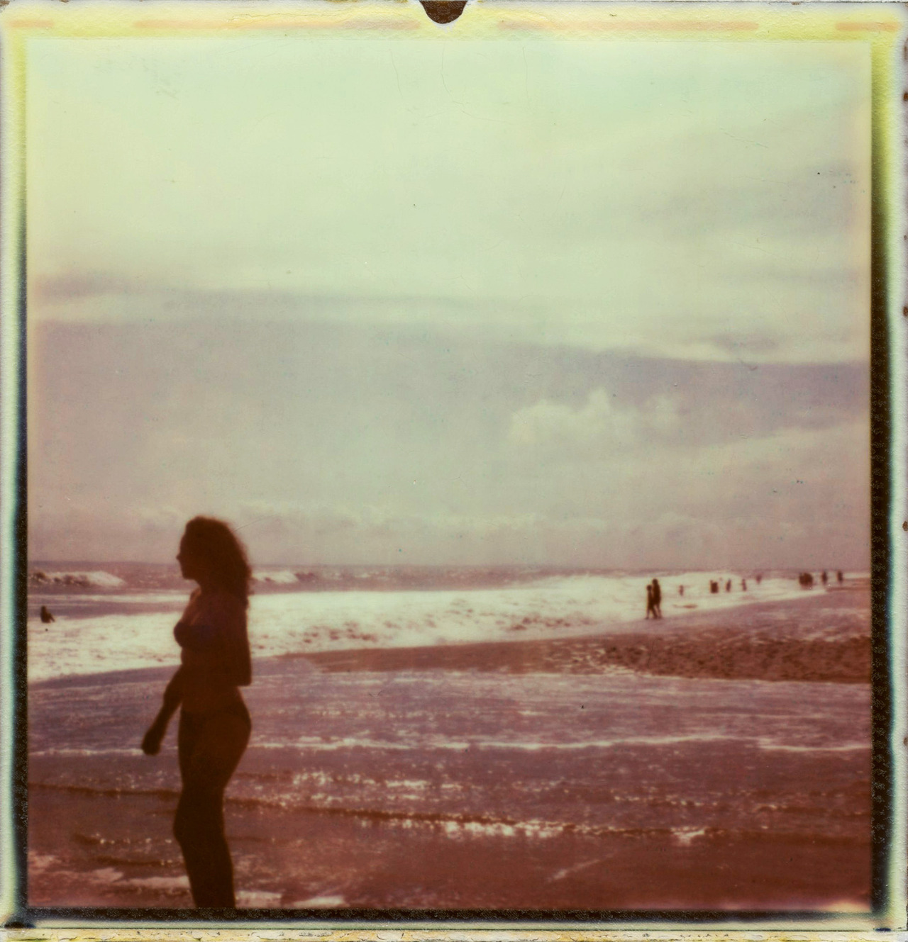 Aphrodite at Ft Tilden (polaroid px680 test film)