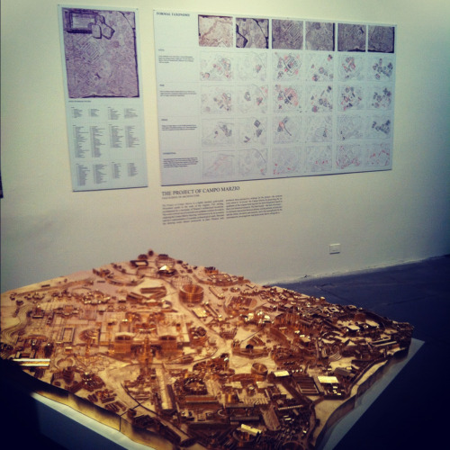 Great to finally see the 3D printed, gold-leafed model of Piranesi's Campo Marzio plan and the wall of drawings I worked on this summer on exhibit at the Venice Biennale!