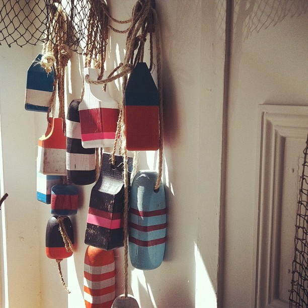 Handmade buoys… (Taken with Instagram)