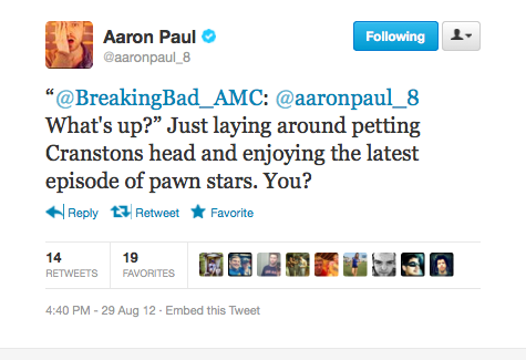 Aaron Paul, you devil.