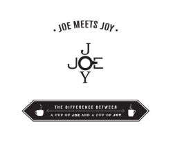 "Joe meets Joy Building a brand that stands out in the specialty coffee industry is a challenging task. Trends are fast, but a building a brand that carries through with more than a logo and graphics is where the challenge begins. Enter Joe meets Joy, the 100% online retailer with the tough task of convincing America to brew at home, then to go out and find their ""coffee moment"". With simple stamp-like graphics of black, the logo represents the intersection of where Joe and Joy meet and experience the ultimate coffee separately, and then together. Building a narrative on the two extremes of the specialty coffee industry, Joe represents the tech while Joy represents the taste. Through lifestyle photography of each character in their coffee moment, the consumer feels a romance brewing through their stories, anticipating the coffee moment they share together."