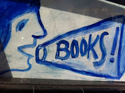 citylightsbooks:  Ferlinghetti's latest sign in City Lights' window says it all.
