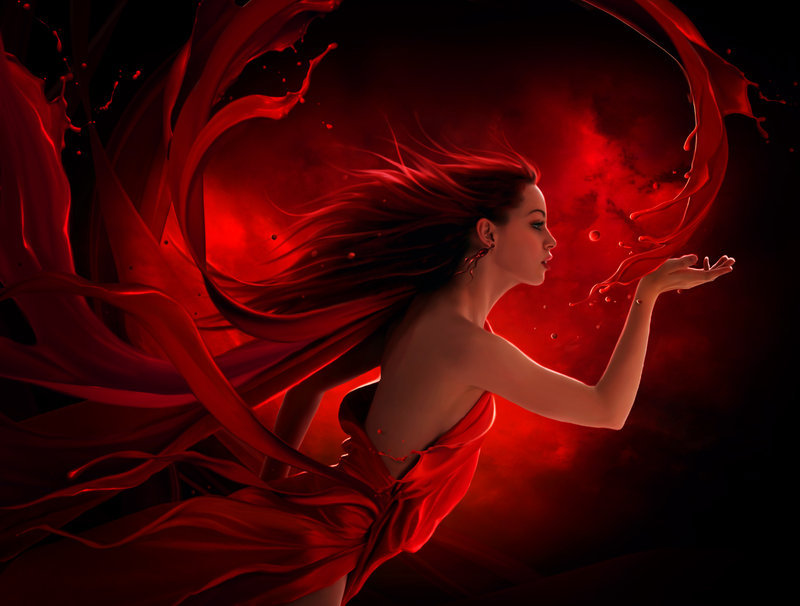 kingray:  Red splash by *ElenaDudina