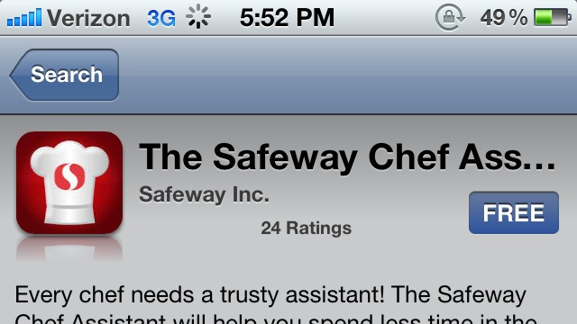 Great work Safeway. HIRE ME!