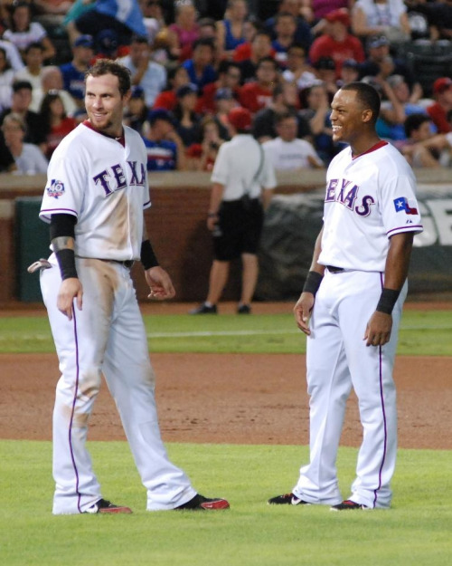 Hamilton & Beltre are all smiles. Photo courtesy: Jason Barlow