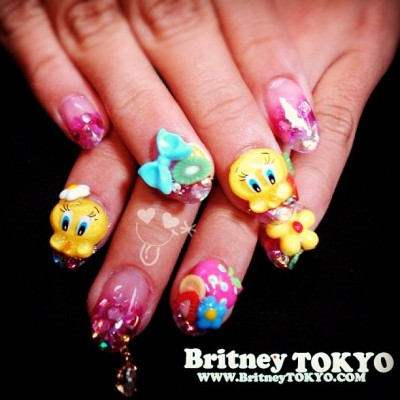 Tweety 3D deco nail art #nailpiercing (Taken with Instagram) ✌ ✿ ✡ ✟ ☺ ✞ TOKYO meets HOLLYWOOD ✞ ☺ ✟ ✡ ✿ ✌ ☆http://britneytokyo.com/