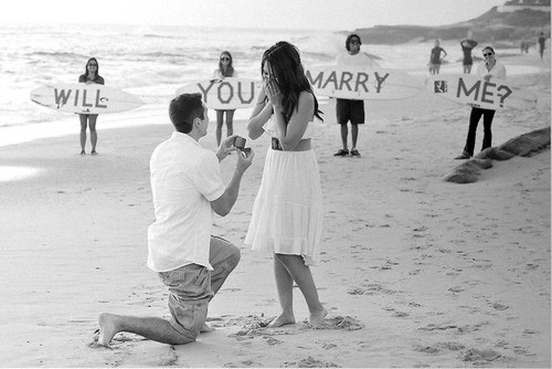 Wedding Wednesday proposal!