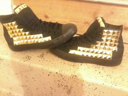 studded my new shoes:)