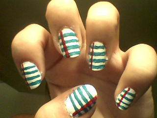 back to school nails!! :D