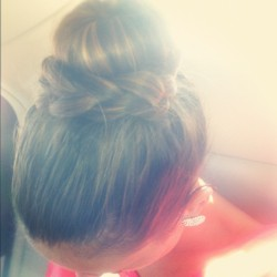 #braid #bun #sockbun #hair #cute #lazybunday (Taken with Instagram)