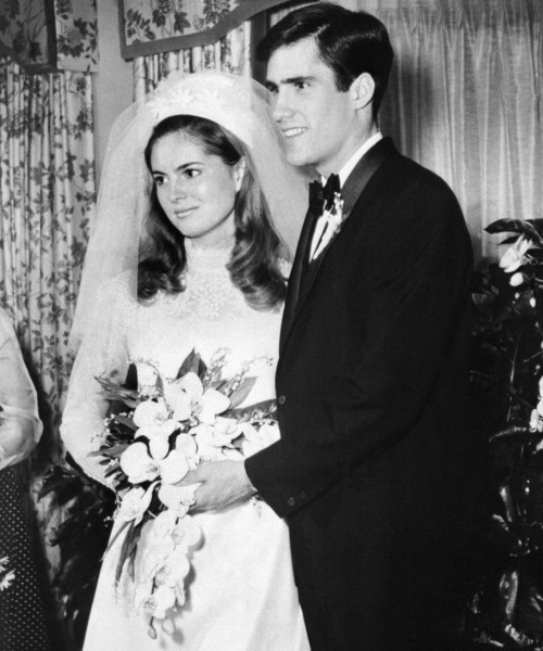 Mitt and Ann on their wedding day.