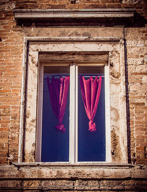 | ♕ |  a window in Perugia  | by © Miemo | via ysvoice