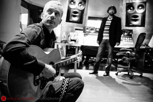 Fountains of Wayne shoot at Stratosphere Sound in NYC. Photo by: Violeta Alvarez Hair: Angie Park Make up: Sasha Grossman Assistant to all: Lou Probes violetaalvarezphotography.com ©Violeta Alvarez - all rights reserved
