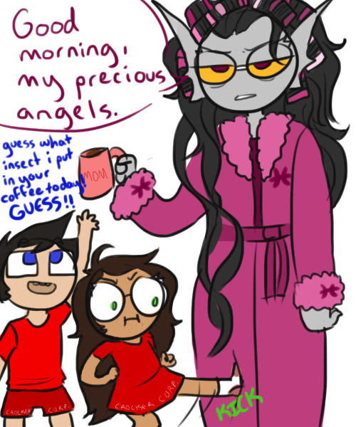 takaratime:  mama condesce enjoys bonding with her children in the mornings