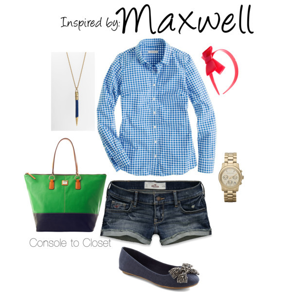 Maxwell (Scribblenauts) by ladysnip3r featuring long sleeve shirts This outfit is inspired by Maxwell of Scribblenauts. I wanted to do a preppy take on his mismatched outfit and chose denim shorts with a light blue shirt. I also chose a green bag and navy shoes. I wanted to capture the drawing essence of the game and found a really cool pencil pendent necklace! (Reference Image) J.Crew long sleeve shirt / Hollister Co. short shorts / Flat / Dooney & Bourke shopping bag / Kate Spade  jewelry / Sonia Rykiel hair bow accessory, $62