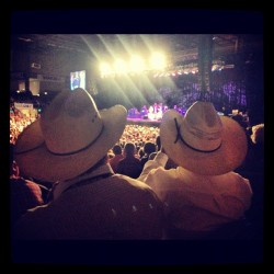 Watching Merle haggard on Claire's birthday!  (Taken with Instagram)