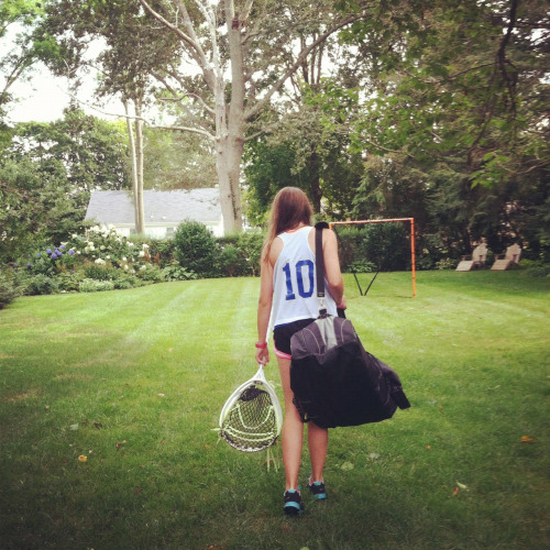 boysbraidsbestfriends:  Back in action… Lacrosse goalie. Yes it's me