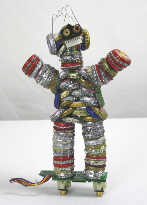 Bottle Cap Man by FilbertsModernLife on Etsy