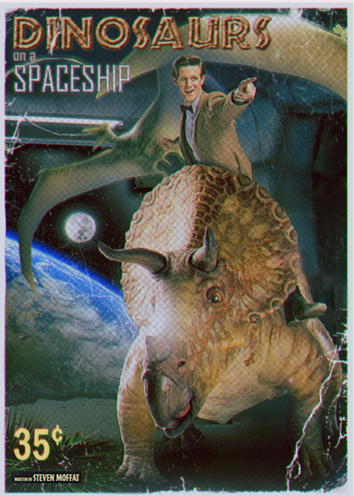 Dinosaurs on a Spaceship pulp cover
