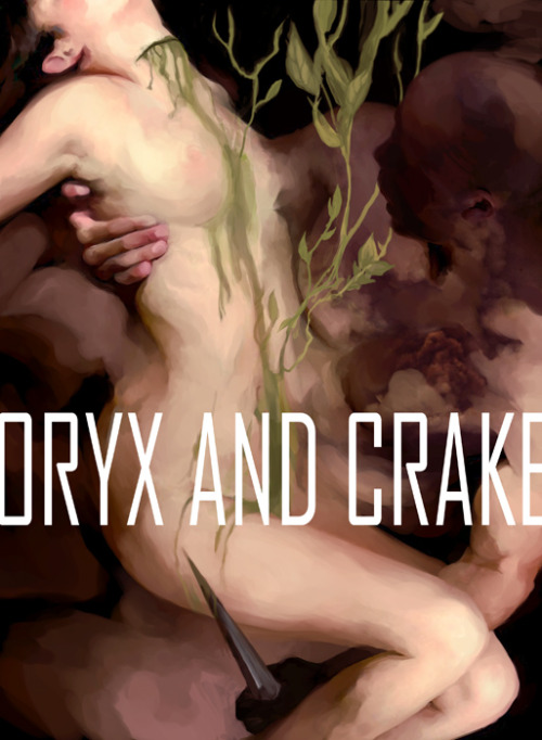 Cover for Margaret Atwood's Oryx and Crake designed by Angelica Alzona