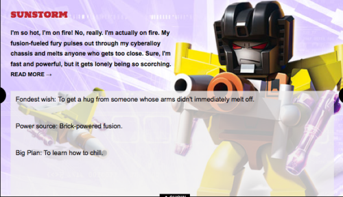 mechanicbird:   biorobo: That wish ;A; ALL MY SILLY SUNSTORM IDEAS ABOUT HIM BEING LONELY ARE HORRIBLY TRUE ;___________;  Awww, fanon is now canon. D: