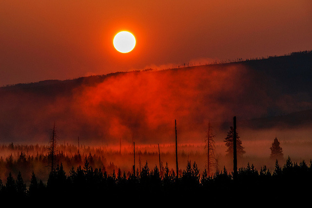 Yellowstone Sunrise by jetguy1 on Flickr.