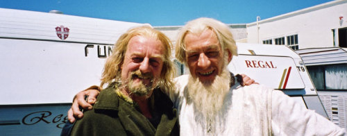 fuckyeahlotrcast:  Bernard Hill and Ian McKellen at Camperdown Studios