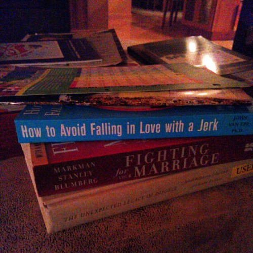 A couple of my books for classes… Haha (Taken with Instagram)