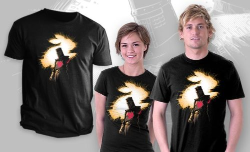 teevil:  The Black Knight Rises by Obvian - Sold on August 30th at http://teefury.com  For a larger view, click here: http://bit.ly/OvkUCJ  (Thanks for your patience, everyone!) http://on.fb.me/QAPn3R