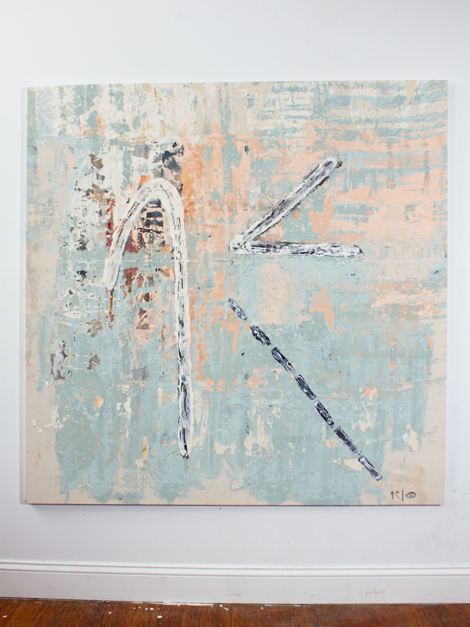 "Stage Hook, 2012Acrylic and Enamel58"" x 58"""