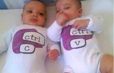 Twins come form Ctrl + C and then Ctrl + V,LOL
