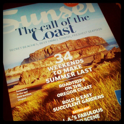 244/366:  Sunset Magazine—The Call of the Coast (iPad Edition) on Flickr.