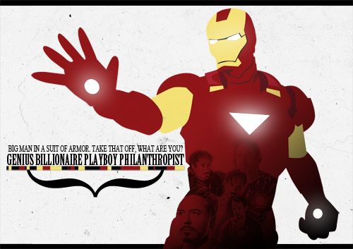 I wanted an Iron Man theme for my phone, but I couldn't find a decent one, so I made this to use it as a wallpaper, and I LOVE how it looks on my phone! I drew the Iron Man suit on Illustrator and then edited it in Photoshop. I'll definitely do another one to the lock screen.