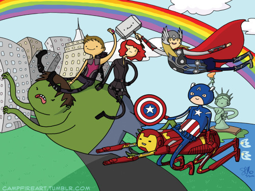 the-awkward-blog:  It's Assemble Time