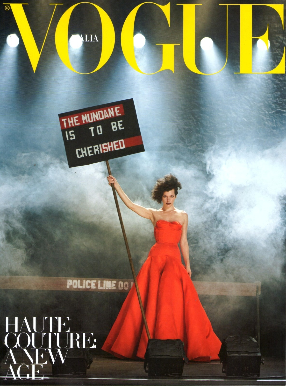 Milla Jovovich - Vogue Italia supplement by Peter Lindbergh, September 2012
