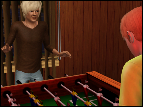 Henry: You know what will help your broken heart, my friend? Foosball. Mac: Okay. You know, I never caught your name. Henry: The name is Henry. Henry Goodwin. Mac: …your last name is Goodwin? Henry: Yeah. Why? Mac: …it's - it's not important.