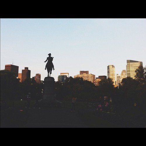Washington Statue in The Boston Public Garden #vscocam #bostongram (Taken with Instagram)