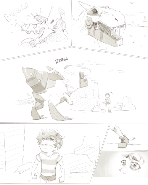 pepperdraws:   … I'm gonna get so strong even Dragos won't stand a chance against me! Dad… I…  [full size version]