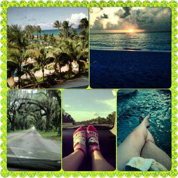 #summer #collage #pool #sunrise #vacation #palmtrees #feet #relax (Taken with Instagram)
