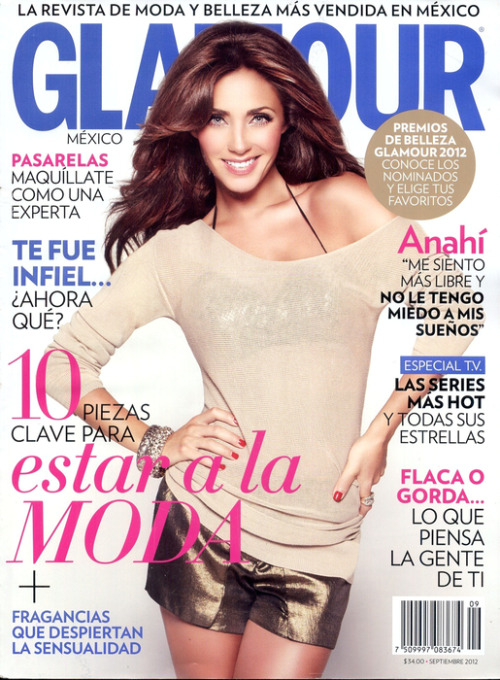 Anahi para Glamour México 2012. click the picture to read the full history…