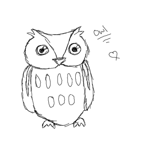 So, an owl, because my mum told me that my daemon would be an owl. I imagine him with blue eyes and white fur, because, it'd totally suit me.