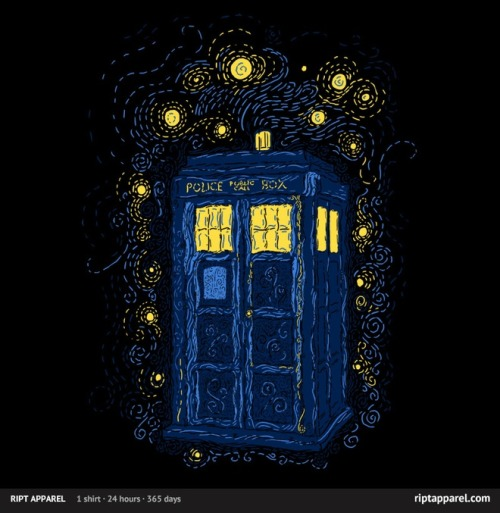 Vincent Van Gogh and the Doctor (his TARDIS) combined in one awesome shirt. (That you can get for only $10 on RIPT)