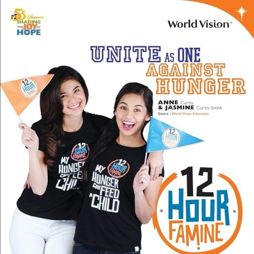 CALLING ALL HUNGER FIGHTERS! Let's all unite as one again this year on September 29 8am-8pm at SM North's Skydome for the 12 hour famine!! Sign up now! Log on to: worldvision.org.ph 😊 unfortunately, I won't be able to make it due to schooling commitments but I'll join the famine by distance, PLUS! It won't matter as there will be plenty of activities and other of your favorite advocates that day to keep your company 😉 It's only 12 hours, so go hungry for a cause!  (Taken with Instagram)