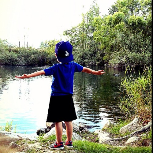 Liam loving life in God's creation (Taken with Instagram)