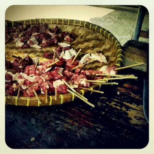 Tee.. Sate cak   #kuliner #indonesiafood #bbq #instagram   (Taken with Instagram)