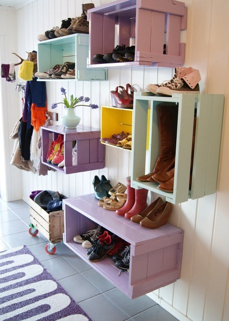 colorful diy storaging