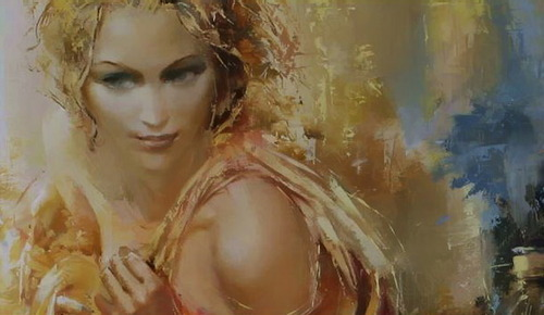 by Roman Garassuta russian painter artist that seamlessly combinesrealism, abstraction and romanticism