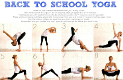 Back to School Yoga! Pretty simple.