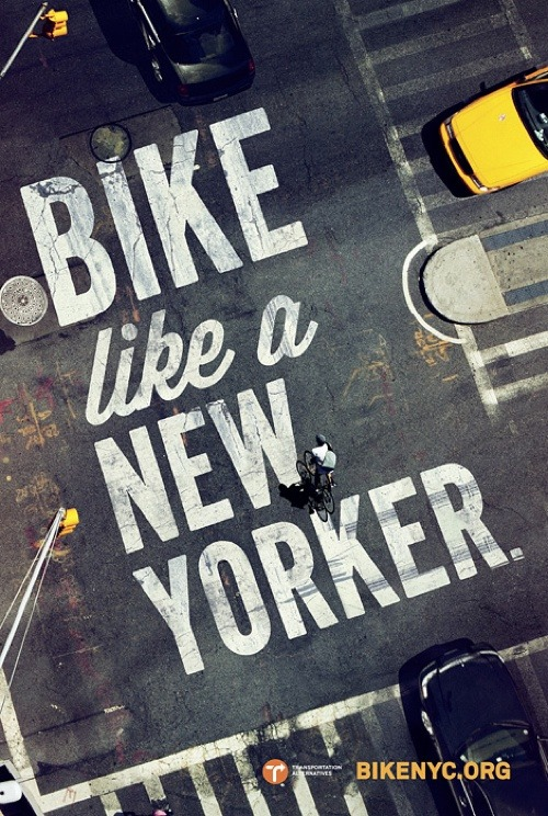 thekhooll:  Like A New Yorker ! Poster campaign by Mother New York promoting BikeNYC.org.